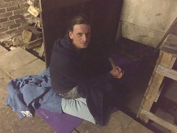 Chichester Council Charity Sleepout for Stonepillow 2020 - Councillor Gareth Evans