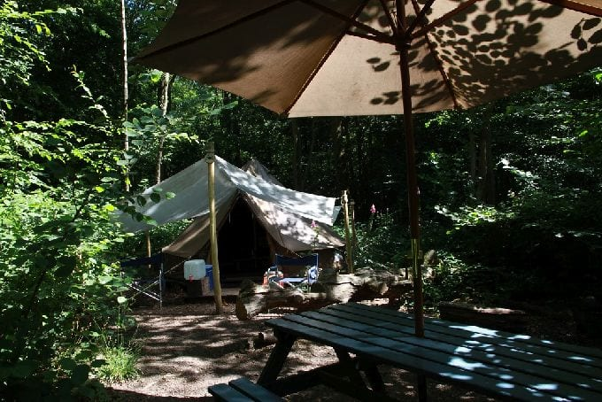 Bell Tent at Wild Boar Wood Campsite
