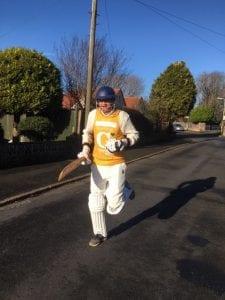 Andrew Spencer training for his run