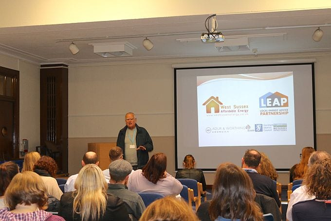 Cllr Dave Simmons Adur DC Exec Member for Health and Wellbeing at the launch of LEAP