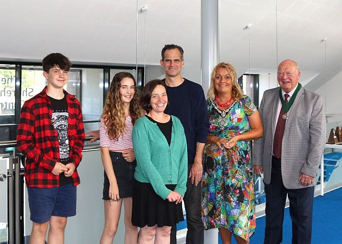 Councillor Joss Loader hosted a civic reception