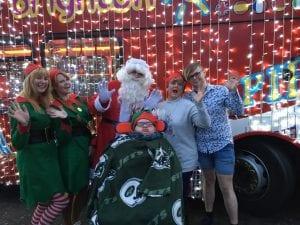 Craig & family with Santa