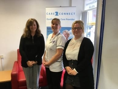 Julie Story, Leanne Luxford and Lily Martin - all shortlisted for the Great British Care Awards
