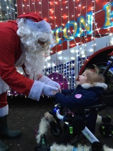 Maisie-Lee with Santa