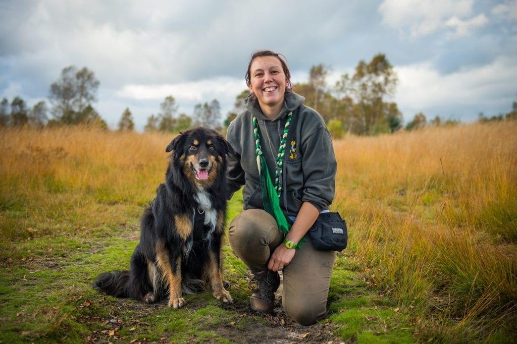 Natalie Light and her dog Jack