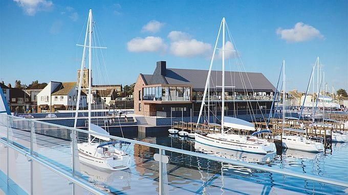 Proposed new club house for Sussex Yacht Club
