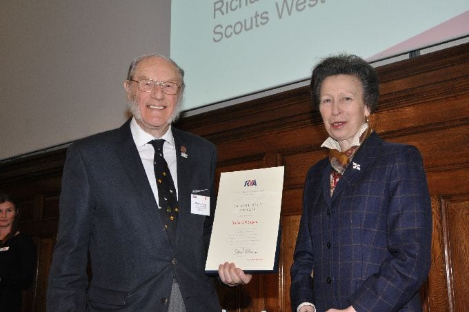 Dick Eager and Her Royal Highness The Princess Royal