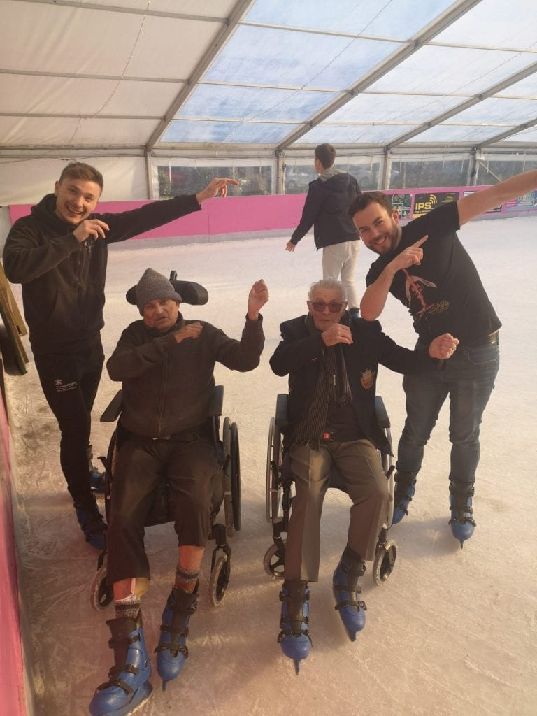 The Care for Veterans Occupational Therapy team took a group of residents to Worthing Ice Rink