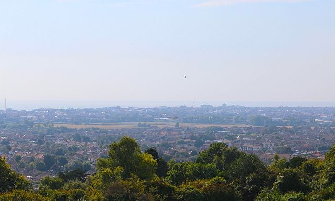 View of East Worthing from the South Downs