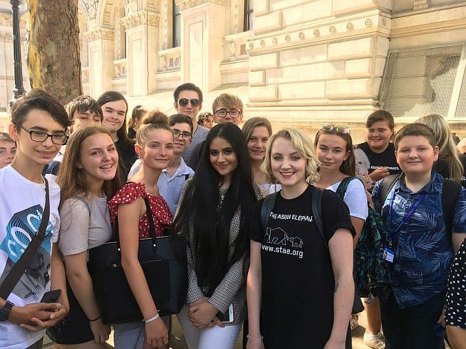 Youth Cabinet members with actress Evanna Lynch