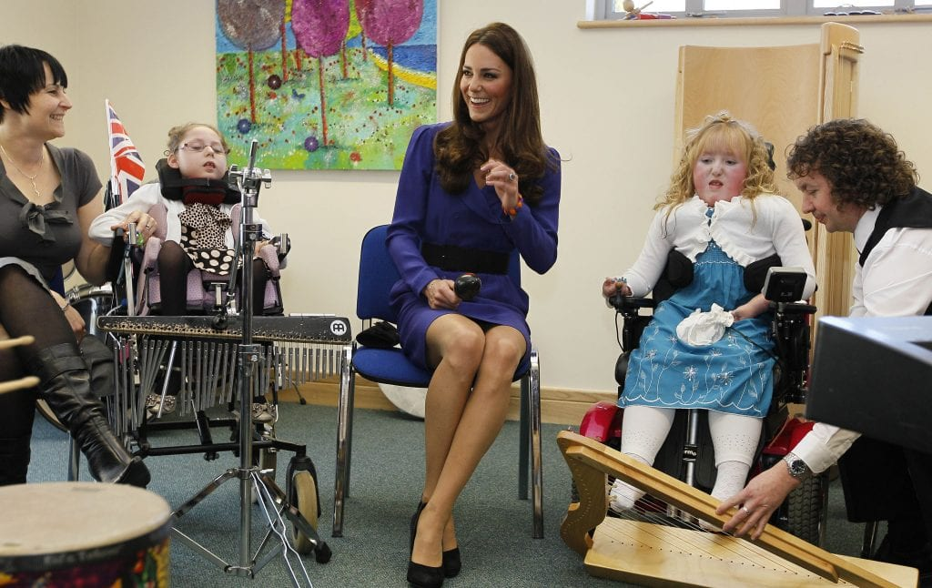 The Duchess attends a music class in aid of Children's Hospice Week