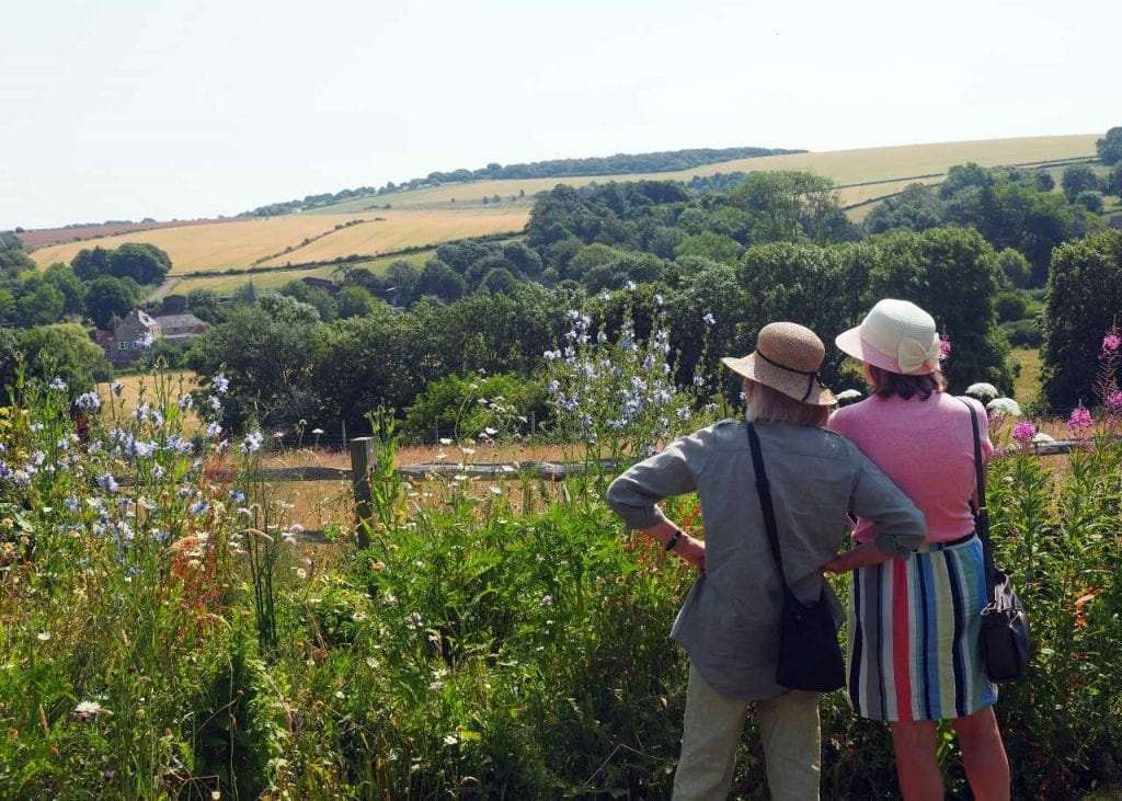 Visitors admiring the view