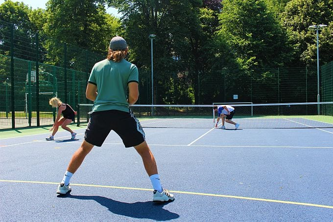 Coaching sessions at Horsham Park tennis courts