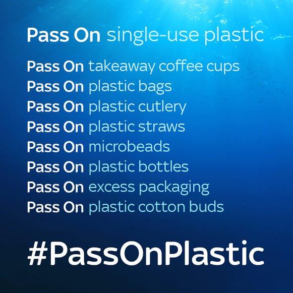 Pass on plastic