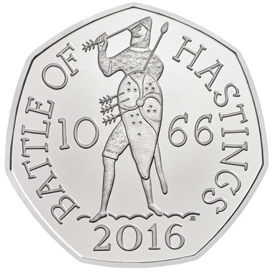 50th Anniversary Battle of Hastings 50p coin