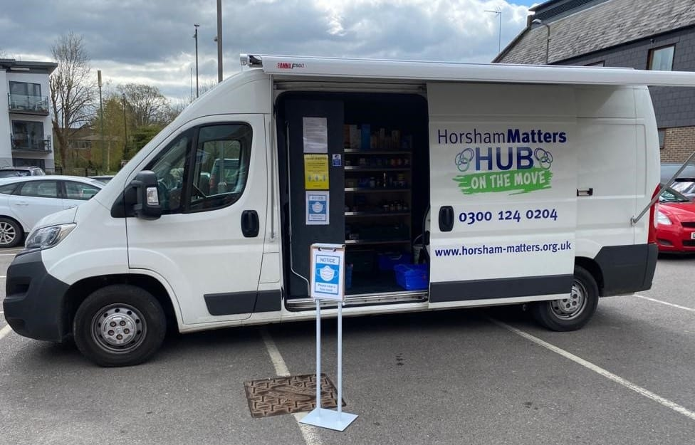Horesham foodbank services on the road