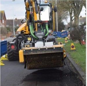 JCB Pothole Pro repairing West Sussex Roads