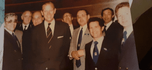 HRH Prince Philip with the Taxi Charity Committee in 1979