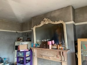 The smoke damaged bedroom