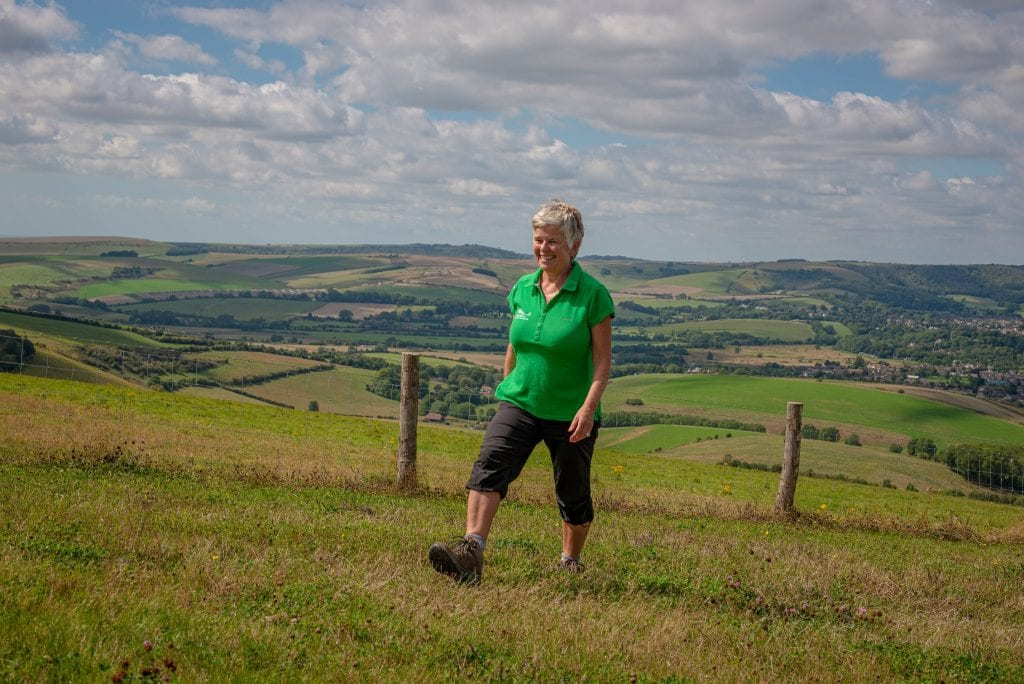 Kate Drake Health and Wellbeing Officer takes a walk in the South Downs National Park