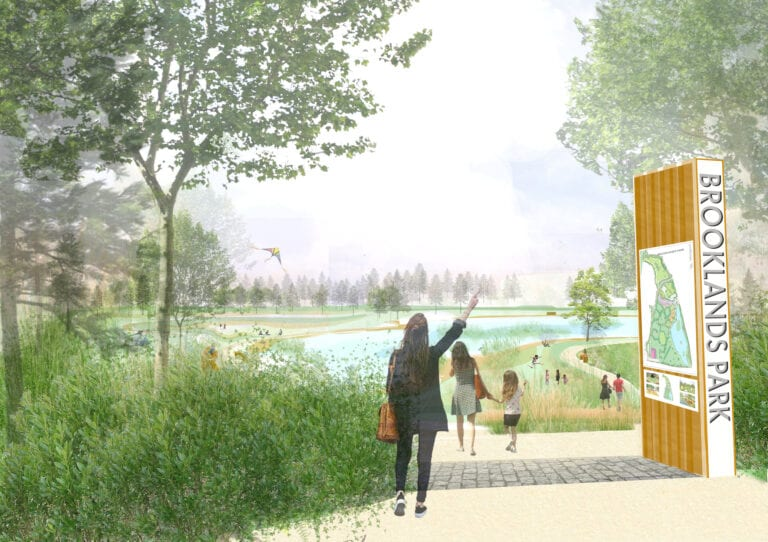 An artist's impression of the new-look Brooklands Park