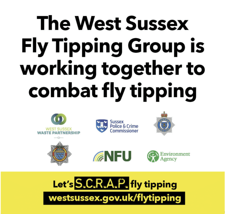 West Sussex Fly Tipping Group is working together