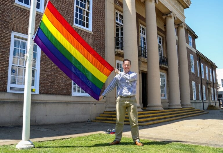 The rainbow flag will fly outside Worthing Town Hall throughout June as part of Pride month
