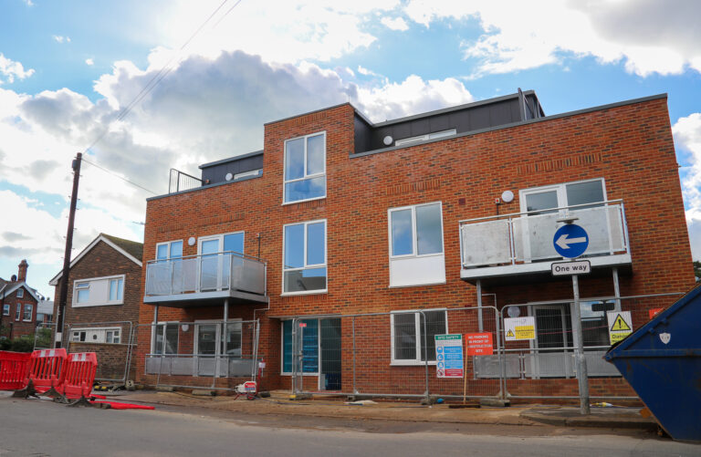 New homes for the areas most vulnerable residents built behind the old Downview Pub