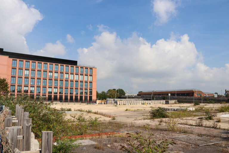 The Teville Gate site from Teville Rd, Worthing