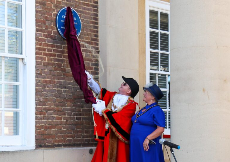 Unveiling of the Blue Plaque by the Mayor and Mayoress